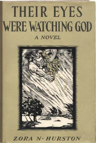 tan book cover, painting of God in the storm, Zora Neale Hurston, Their Eyes Were Watching God
